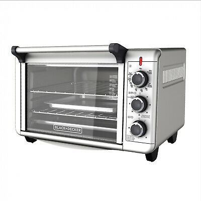 1500W Nautical galley Convection 2-Shelf Toaster Oven 6-Slice 12 Pizza, BLACK+DECKER