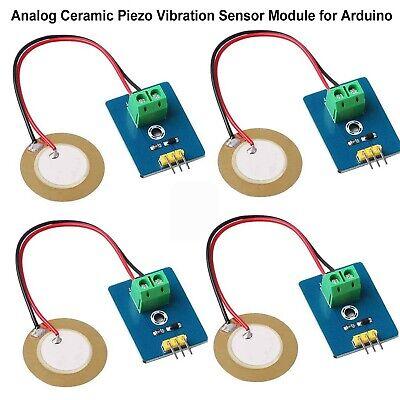 Makerhawk 4pcs Analog Ceramic Piezo Vibration Sensor Module 3.3v5v For Arduino
