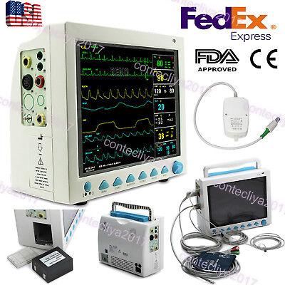Capnograph Etco2 Icu Vital Signs Patient Monitor Multi Parameters Contec Cms8000