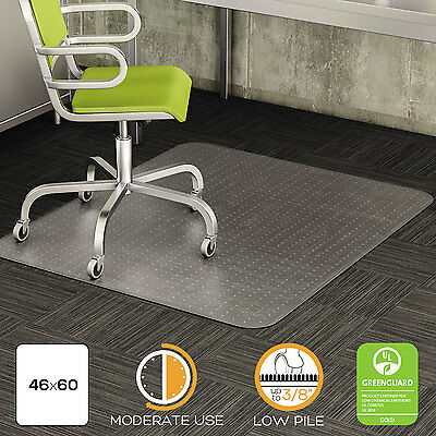 Deflecto Duramat Moderate Use Chair Mat For Low Pile Carpet Beveled 46 X 60