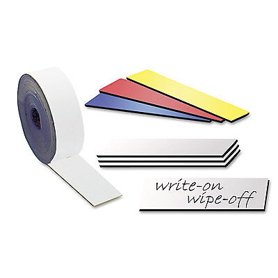 10 Dry Erase Magnetic Shelf Label Magnets 1 X 5 White - Free Shipping