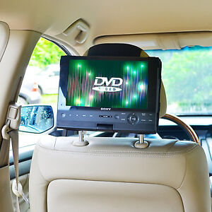New TFY Car Headrest Mount for 10 inch Swivel & Flip Portable DVD Player