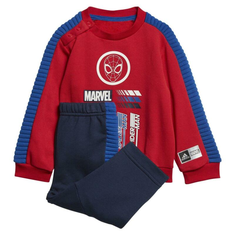 adidas X MARVEL SPIDER MAN INFANT JOGGER SUIT RED marvel SUPER HEROES SWEATSHIRT
