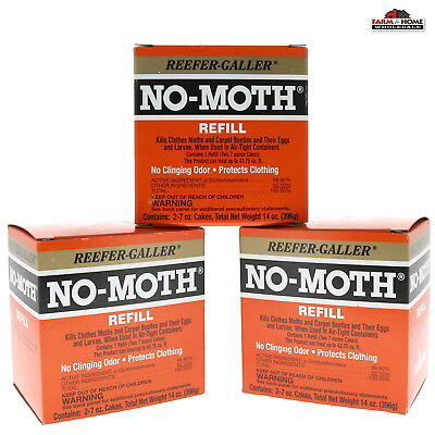 6 Clothes Moth Repellent Cakes ~ New