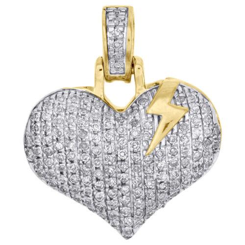 14K Solid Véritable Authentique or jaune petite clé à Mon Coeur Amour Charme Pendentif