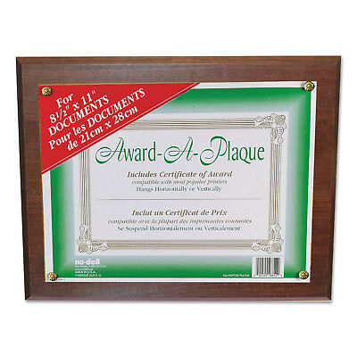 Nudell Award-A-Plaque Document Holder Acrylic/Plastic 10-1/2 x 13 Walnut 18811M Award A-plaque Document Holder