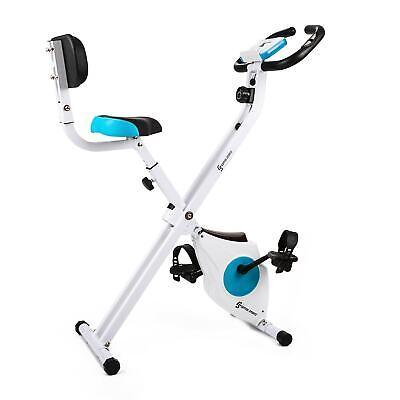 Bicicleta Estática Bici Fitness Plegable Ergonómica Eléctrica Cardio Respaldo