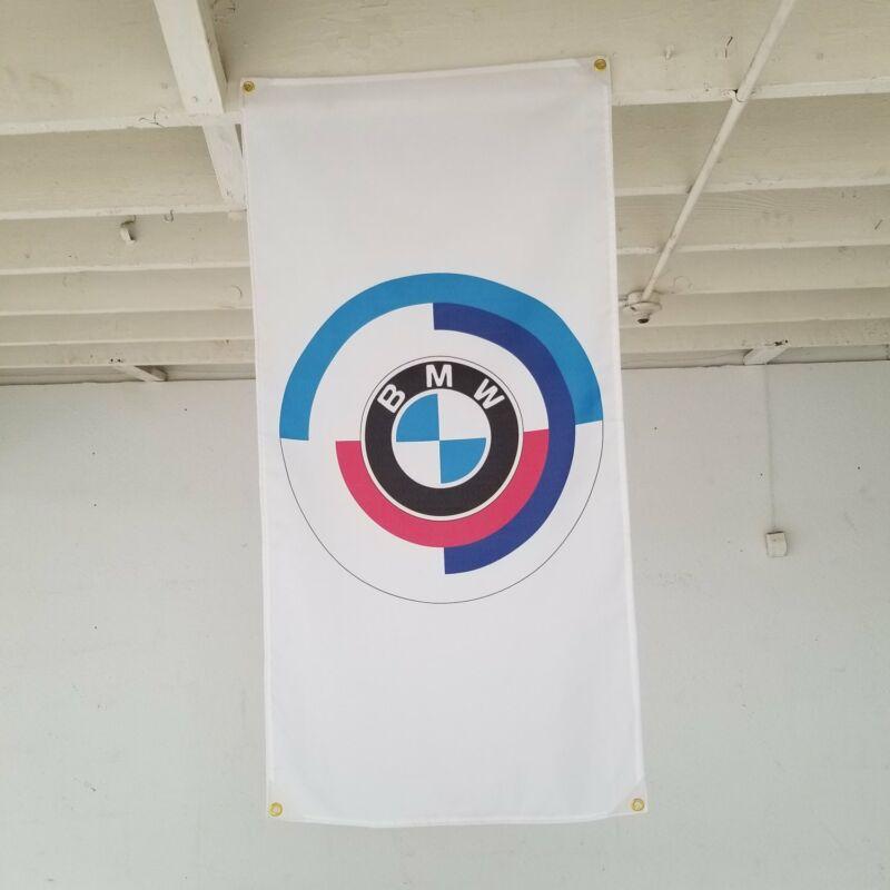 BMW M Motorsport Roundel Banner hartge 3.0csl z3 alpina m technic 325i m3 e21 m6