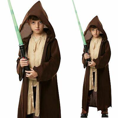 Deluxe Jedi Robe Star Wars Childs Boys Luke Skywalker Fancy Dress Costume