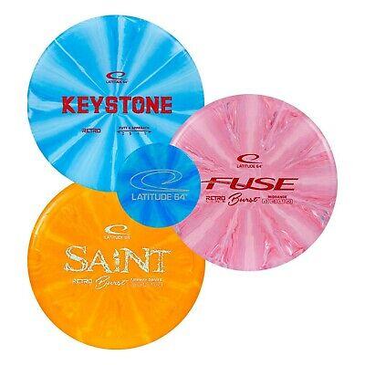 Latitude 64 Retro Burst Disc Golf Starter Set | Frisbee Golf Set | River Fair...