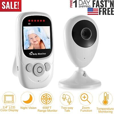 Wireless 2.4GHz Digital LCD Video Baby Monitor Camera Night Vision 2-Way Talk US Digital Video Baby Monitors