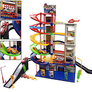 modern 6 level kids garage auto car parking children xmas gift play toy set