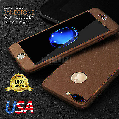 Sandstone Screen (Sandstone 360 Full Body Slim Protector Skin Case Cover Screen Glass Fits iPhone )