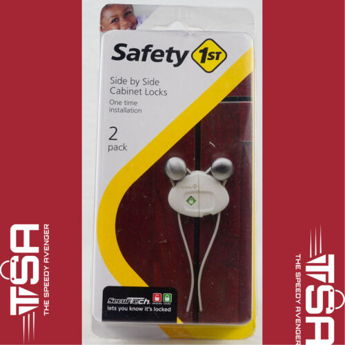 Safety 1st Cabinet Lock White Clamshell 2 / Pack