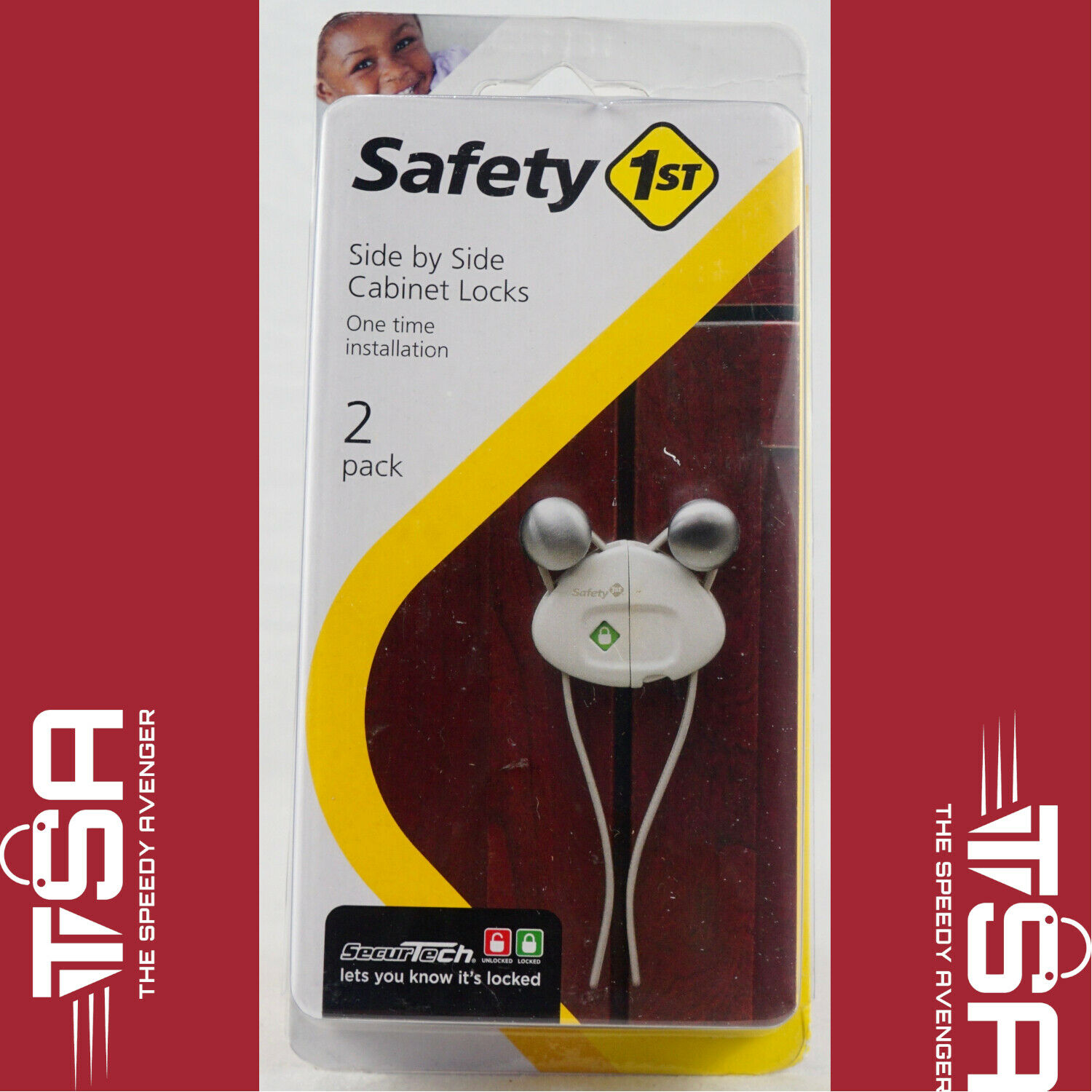Safety 1st Cabinet Lock White Clamshell 2 / Pack - $10.90