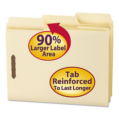 Smead Supertab File Folders With Fastener 13 Cut 11 Point Letter Manila 50box