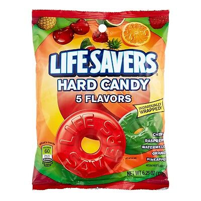Life Savers 5 Flavors Hard Candy Bag, 6.25 ounce](Lifesaver Flavors)
