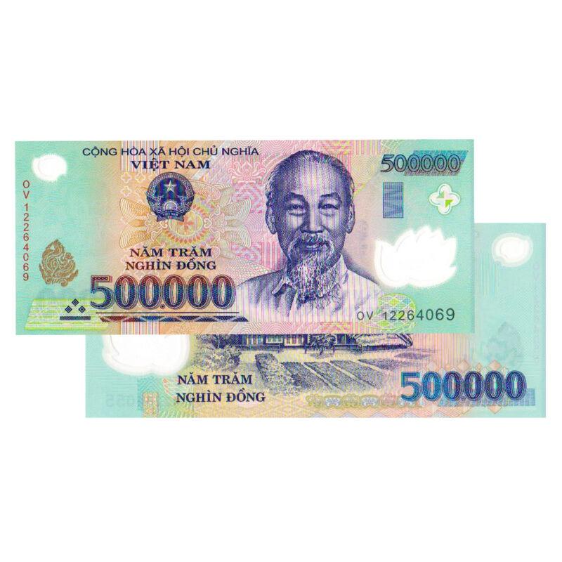 500,000 Vietnamese Dong Banknote VND Uncirculated Vietnam