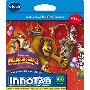 NEW VTech InnoTAB 2 2S Dreamworks Madagascar 3 Europes Most Wanted Software
