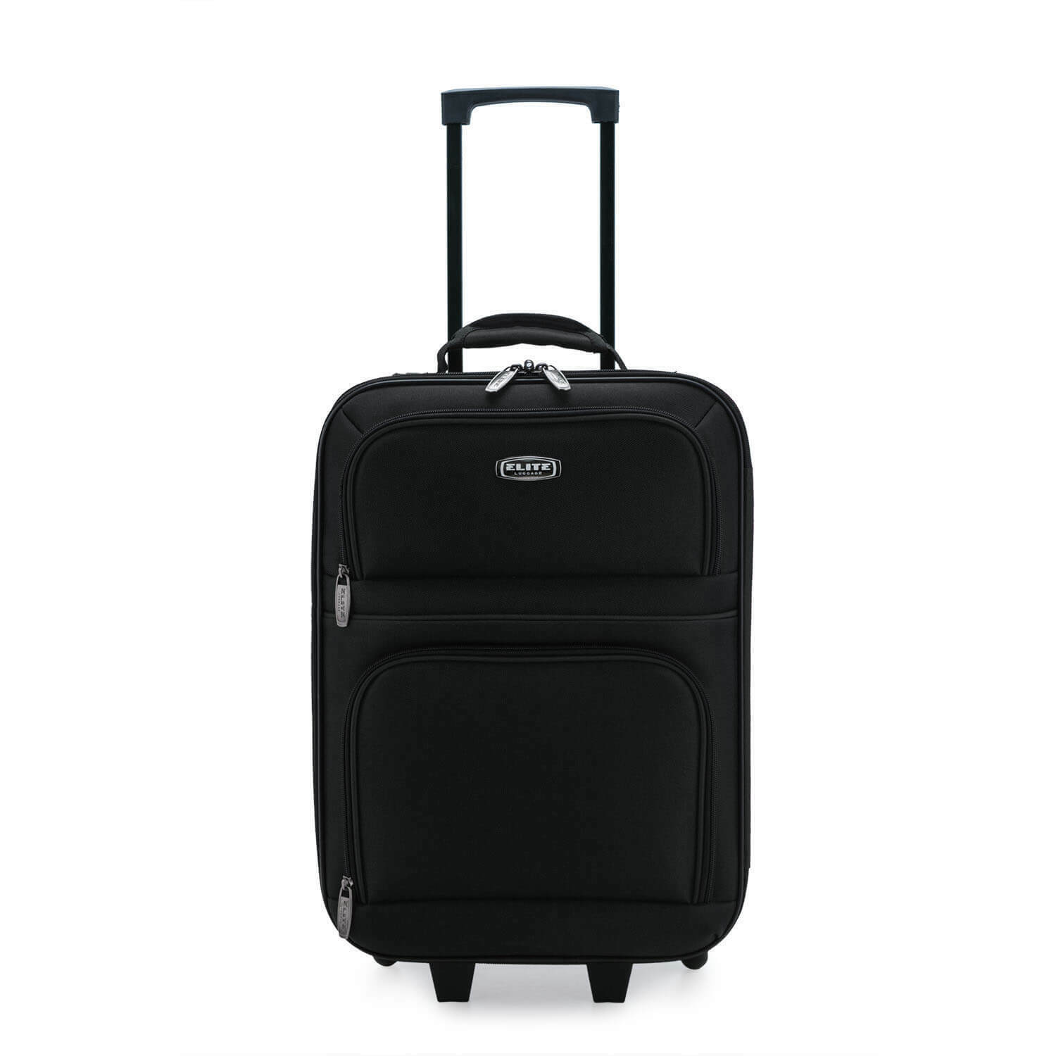 """Elite Luggage Meander 19.5"""" Carry-On Rolling Suitcase with P"""