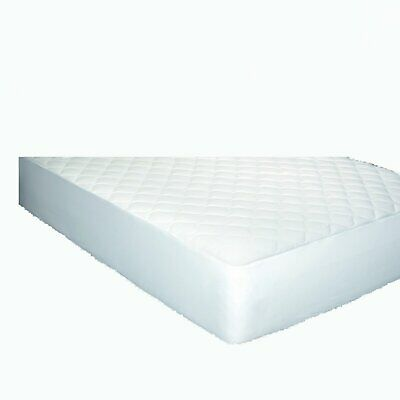 Newpoint 300 Thread Count Cotton Jacquard California King Mattress Pad, White California King Cotton Mattress