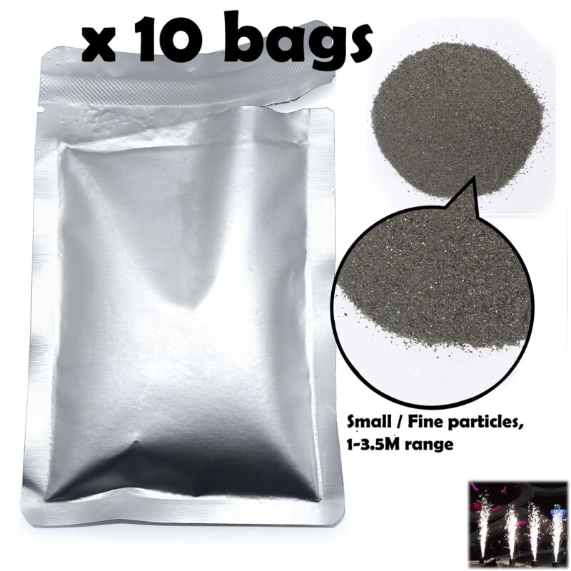 10 Small Fine Particles 1-3.5M Ti Powder 200g for Cold Spark Firework Machine Sp
