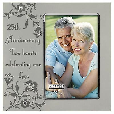 Malden International Designs 25th Anniversary 4 x 6 Picture Frame 25th Anniversary Picture Frame