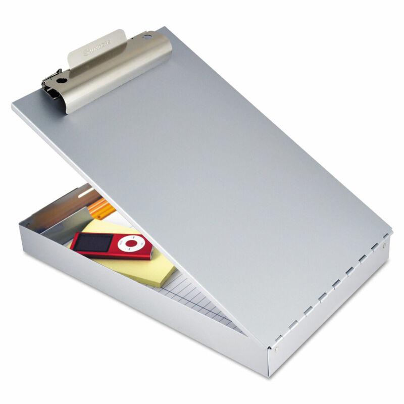 """Saunders Redi-Rite Aluminum Storage Clipboard 1"""" Clip Cap 8 1/2 x 12 Sheets"""