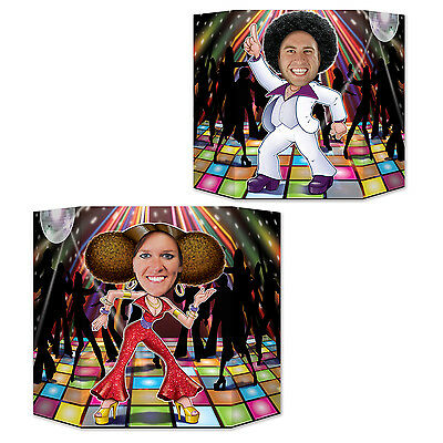 Disco Dancers Double Sided Photo Prop - 94 cm - 1970's Dancing Party - 1970s Party Decorations