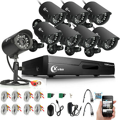 XVIM 8CH 1080P HDMI DVR Outdoor Night Vision 1920TVL CCTV Security Camera System