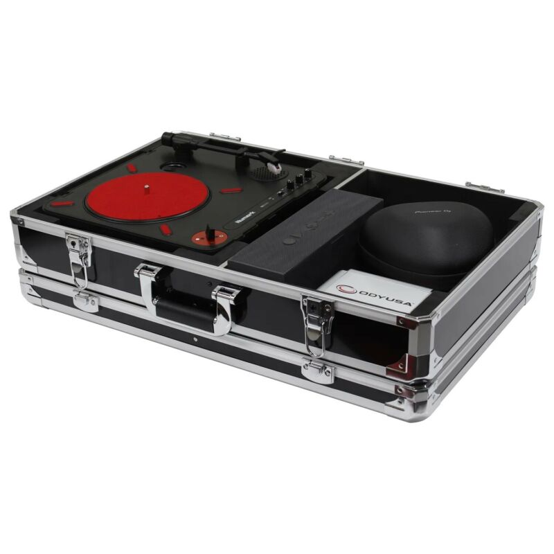 Odyssey KPT01SCBLK, KROM Series Black Numark PT01 Portablist Case With Side Comp