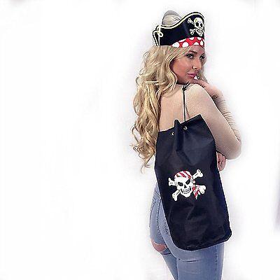 Black Pirate Skull Loot Bag Polyester Treasure  Bags Party Favors Backpacks - Pirate Loot Bags