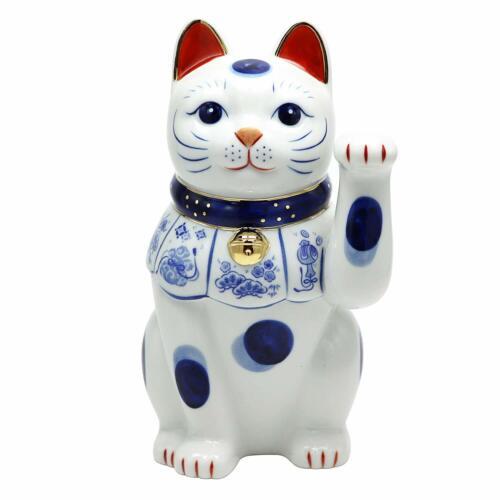 Lucky Cat Left Hand Rising(Invite customers) Pottery Free Bonus Original Set NEW