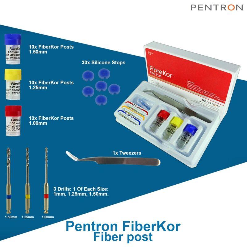 Dental FibreKor Endodontic Radiopaque Kit Fiberglass Posts And Drills