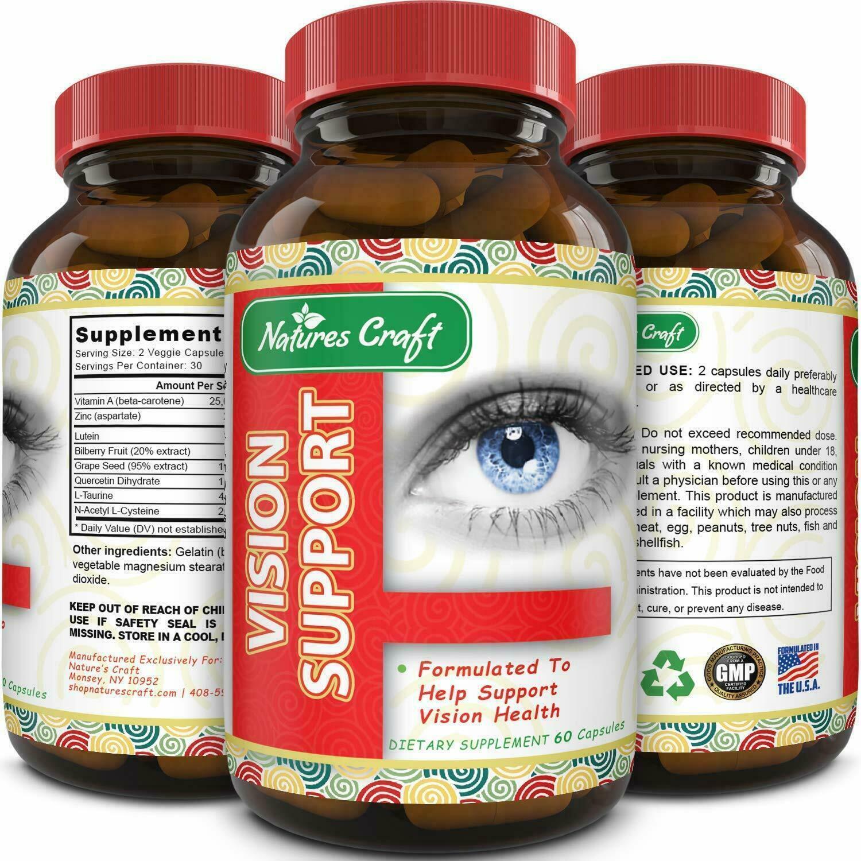 #1 Vitaminas Para La Vista Cansada Y El Cerebro En Capsula- Pastillas Naturales