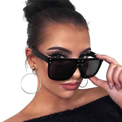 Square Flat Top Oversized Sunglasses Designer Frames Metal Dots Women Fashion  (Designer Sunglass Frames)