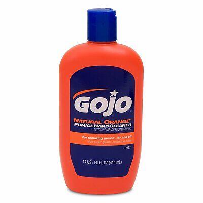 GOJO 0957 Orange Lotion Hand Cleaner with Pumice. 14 oz.