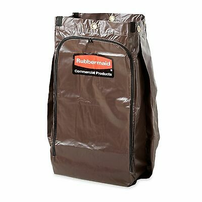 Rubbermaid Commercial Zippered Vinyl Bag For Rubbermaid Carts Brown