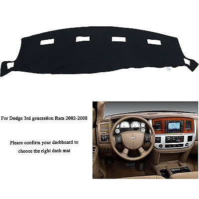 For DODGE RAM 1500 2500 3500 2002-2008 Dashmat Dashboard Mat Dash Cover Carpet