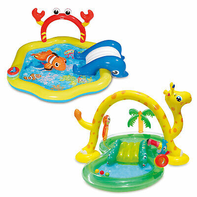 Summer Waves Inflatable Jungle Animal and Under the Sea Kiddie Pool Play Centers](Under The Sea Animals)
