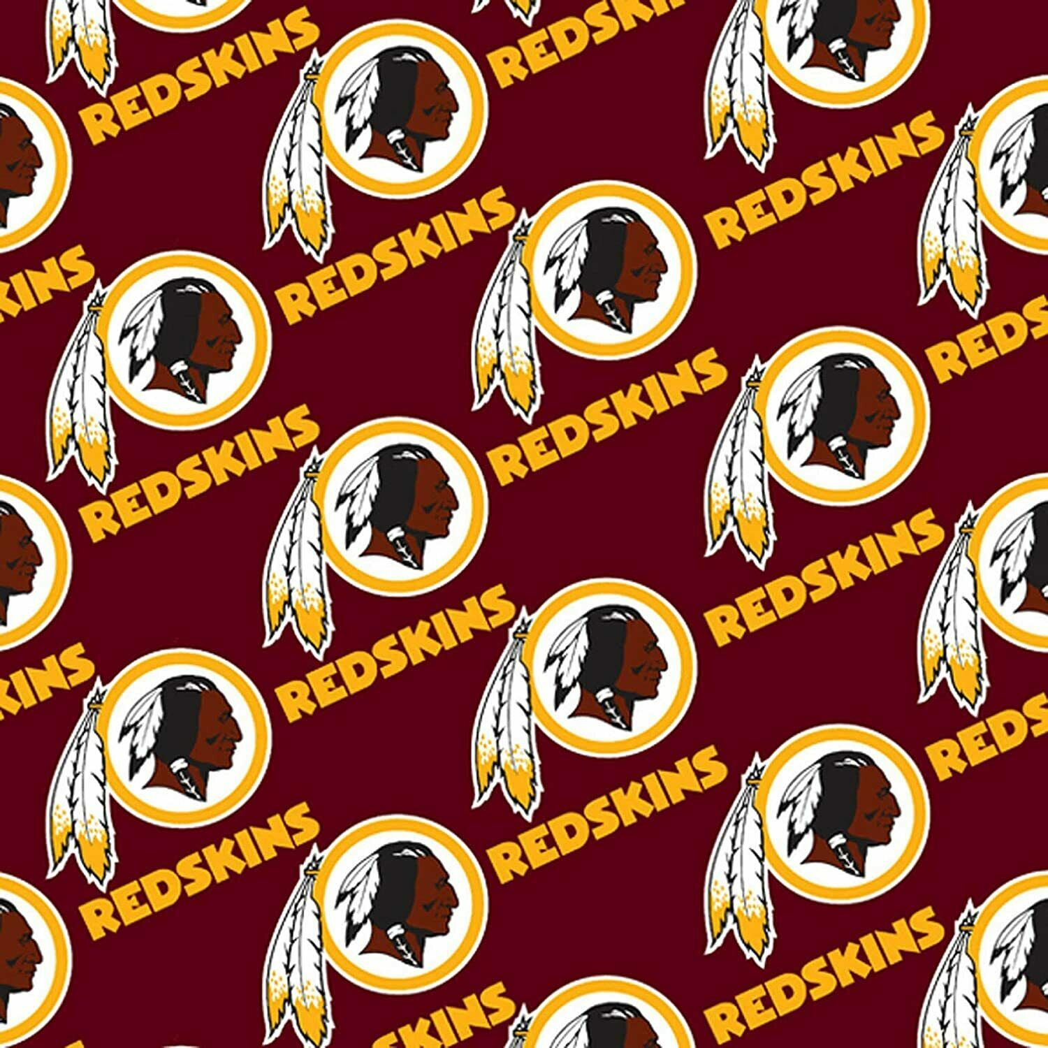 Washington Redskins 100% Cotton Fabric Logo Circles - 1/4 Ya