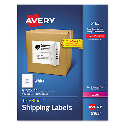 Avery Full-sheet Labels With Trueblock Technology Laser 8 12 X 11 White 100box