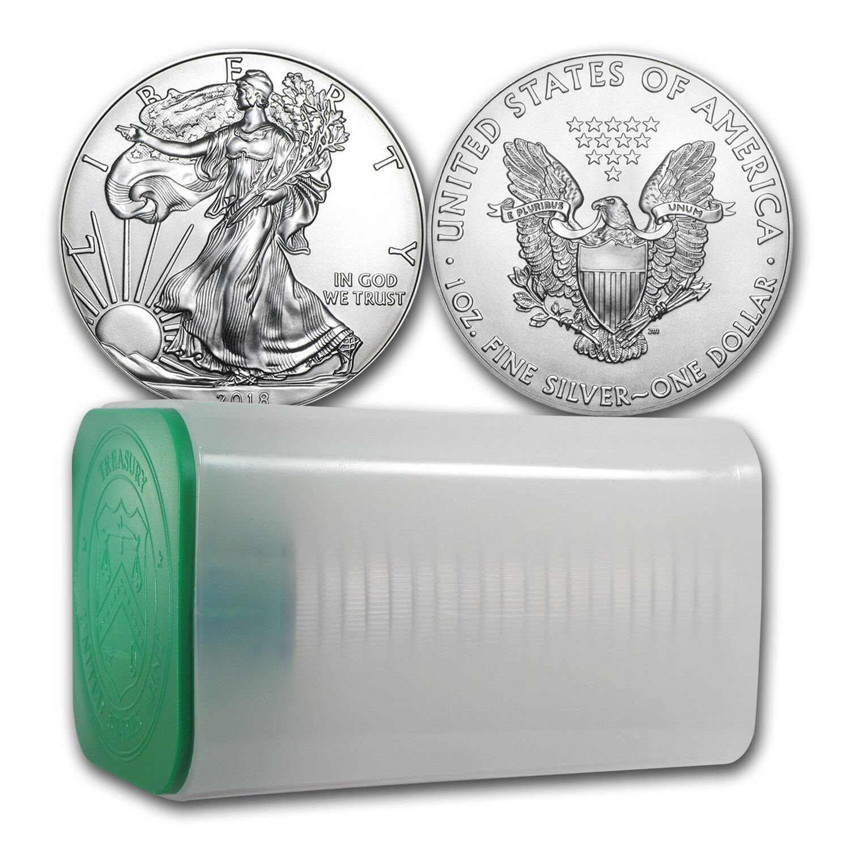 2018 1 oz Silver American Eagle Coin BU (Lot of 20) - SKU #159801