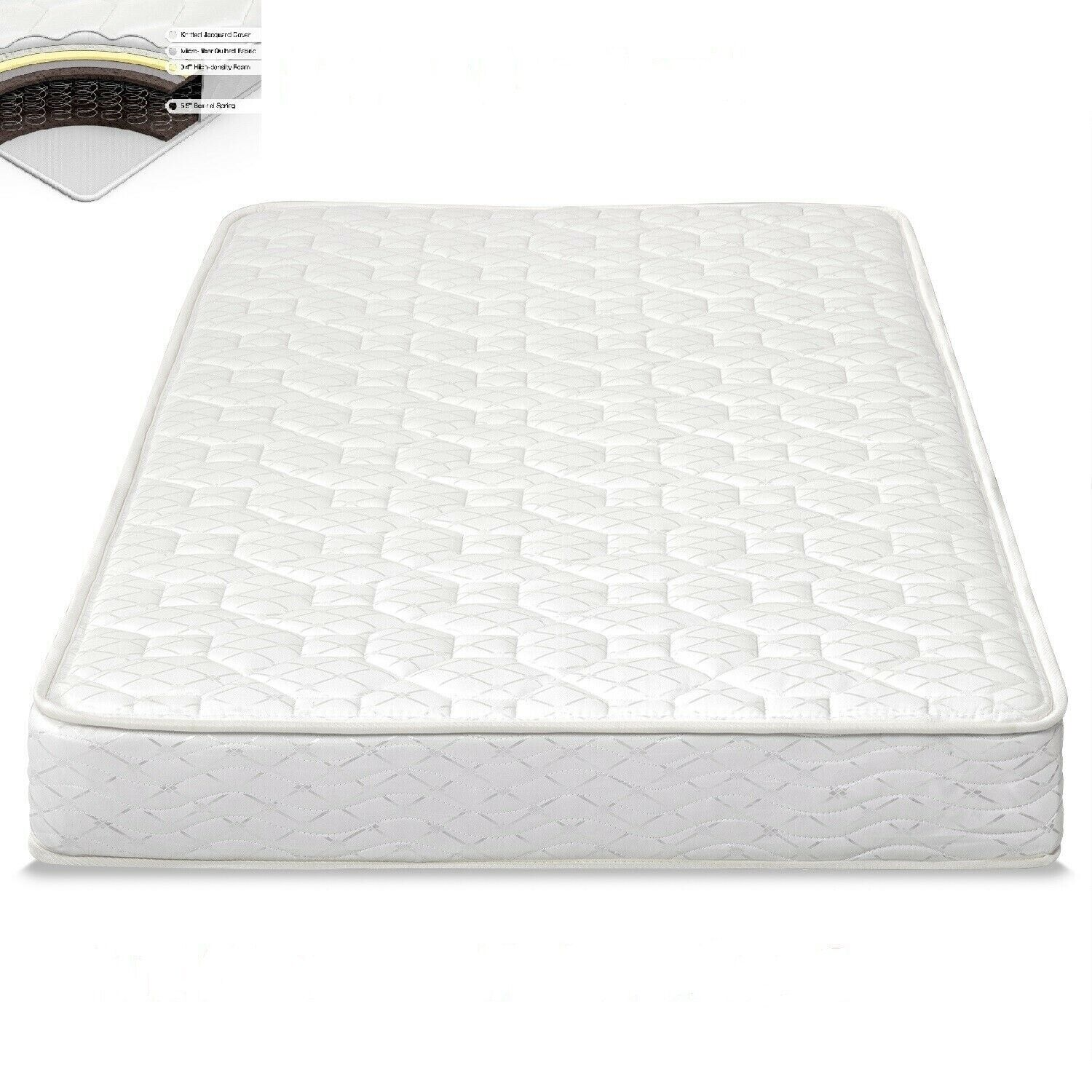"""Full Size 6"""" Inch Comfort Bunk Bed Mattress Heavy Duty Coil"""