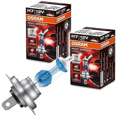 2x OSRAM NIGHT BREAKER LASER H7 12V 55W +130% PX26d 64210 Packung