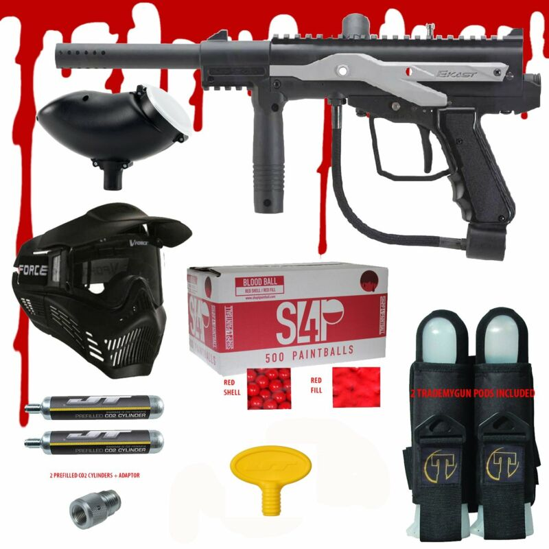 JT E-KAST Electronic .68 CAL Paintball Gun Kit - Ready To Play Blood Package