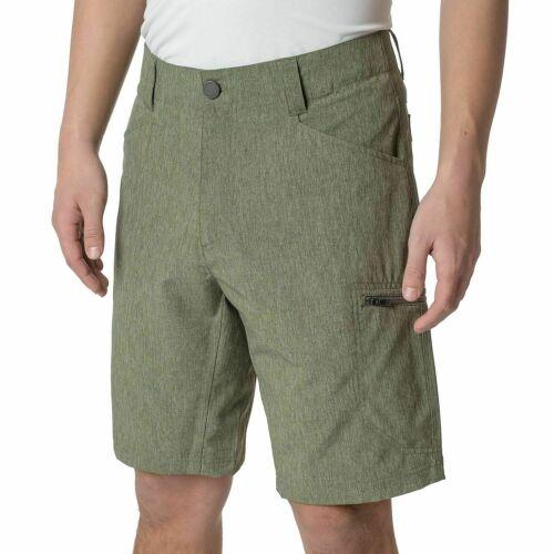 Zeroxposur Men`s Tech Stretch Active All-terrain Travel Shorts-heather Olive-nwt