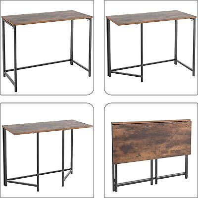Folding Study Coffee Table Foldable Computer Desk Laptop Office Simple Tables UK