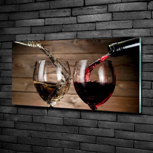 Glas-Bild Wandbilder Druck auf Glas 100x50 Deko Essen & Getränke Wein Gläser