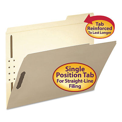 Smead Folder Two Fasteners 13 Cut Third Position Top Tab Letter Manila 50box
